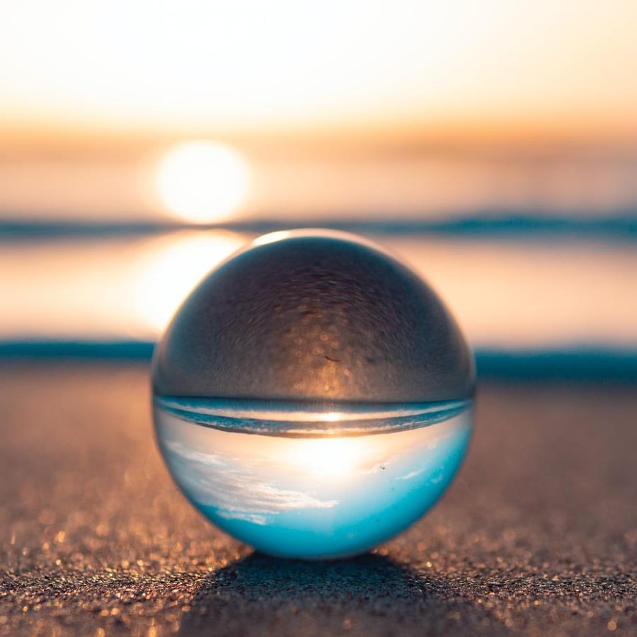 glass globe in the sun